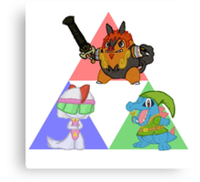 Pokemon Triforce - Colored Canvas Print