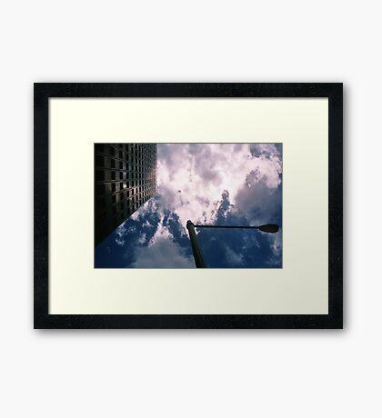 Big City Skyline........lamp post Sydney CBD Framed Print