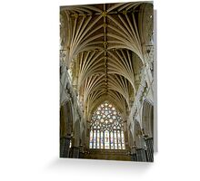 Cathedral St. Peter in Exeter Greeting Card