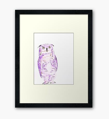Athena - watercolor and ink Framed Print