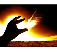 Hand of Fire Photographic Print