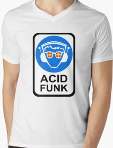 ACID FUNK Mens V-Neck T-Shirt