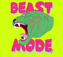 Beast Mode - He Man Battel Cat by Lee Lacy