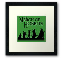 The March of Hobbits Framed Print