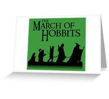 The March of Hobbits Greeting Card