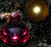 Bell, ball and snow by Steve plowman