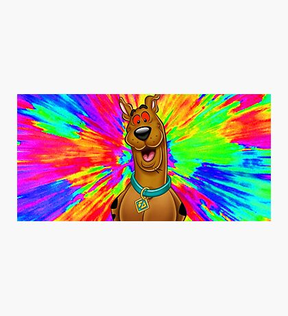 Scooby doo tripping out Photographic Print