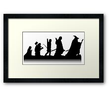 The March of Hobbits (no words) Framed Print