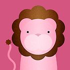 Peekaboo Pink Lion by Steven Isaac Wood