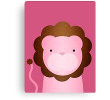 Peekaboo Pink Lion Canvas Print