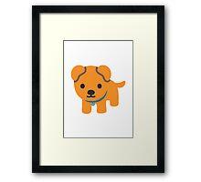 Dog Google Hangouts / Android Emoji Framed Print