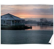 sunrise over the lakes Poster