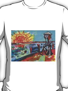 WATCHING THE SUN SET(COMPOSITION SKETCH)(c1995) T-Shirt