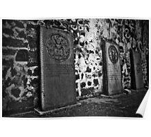 Dutch tombstones at St. Paul's church, Melaka Poster