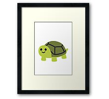 Turtle Google Hangouts / Android Emoji Framed Print