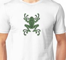 Intricate Green and Black Tree Frog Unisex T-Shirt