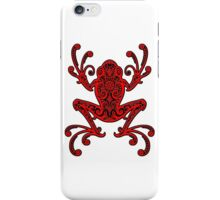 Intricate Red and Black Tree Frog iPhone Case/Skin