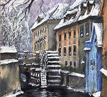 Prague Chertovka by Yuriy Shevchuk