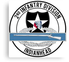 2nd Infantry CIB Canvas Print