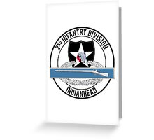 2nd Infantry CIB Greeting Card