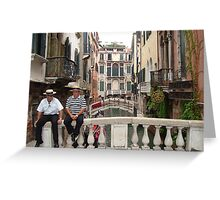 The Gondoliers Greeting Card