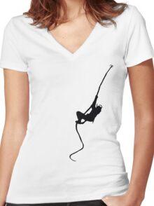 Ninja Stealth Women's Fitted V-Neck T-Shirt