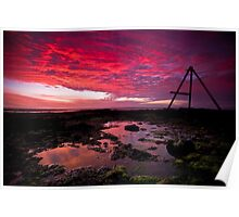 Ricketts Point Sunset Poster