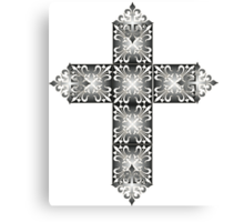 Decorative cross icon for web-page, scrap-booking, backgrounds and more Canvas Print