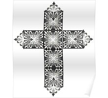 Decorative cross icon for web-page, scrap-booking, backgrounds and more Poster
