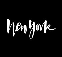 New York Brush Lettering by squiddyshop