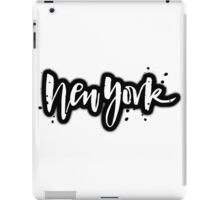 New York Brush Lettering iPad Case/Skin