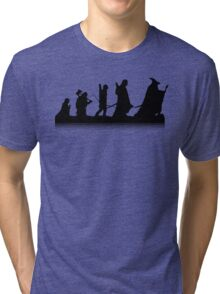The March of Hobbits (no words) Tri-blend T-Shirt