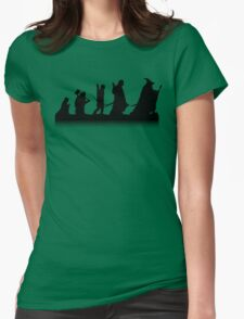The March of Hobbits (no words) Womens Fitted T-Shirt