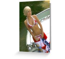 Blonde Beauty Greeting Card