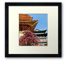 Korean Temples Framed Print