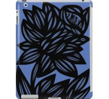 Litzau Daffodil Flowers Blue Black iPad Case/Skin