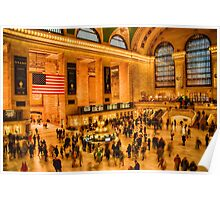 Grand Central at an Angle Poster