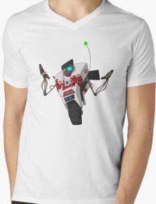 Dr. Zed's Claptrap Sticker Mens V-Neck T-Shirt