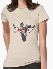Dr. Zed's Claptrap Sticker Womens T-Shirt