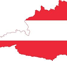 Austria Flag Map by abbeyz71