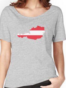 Austria Flag Map Women's Relaxed Fit T-Shirt