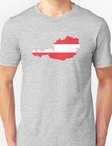 Austria Flag Map Unisex T-Shirt