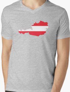 Austria Flag Map Mens V-Neck T-Shirt