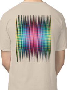 High Frequency Psychedelic Rainbow Color Waves Classic T-Shirt
