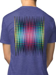 High Frequency Psychedelic Rainbow Color Waves Tri-blend T-Shirt