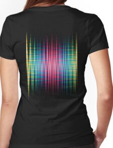 High Frequency Psychedelic Rainbow Color Waves Womens Fitted T-Shirt