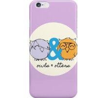 Owls & Otters - ( O&O Emblem ) iPhone Case/Skin