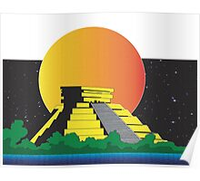 pyramid with planet Poster