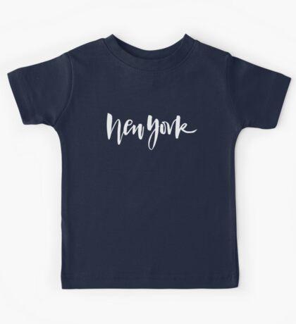 New York Brush Lettering Kids Tee