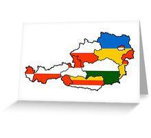 Austria States Flag Map Greeting Card
